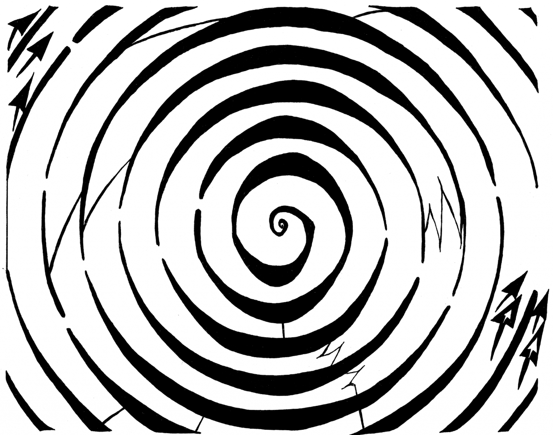 Optical illusion coloring pages clipart best for Illusion coloring pages