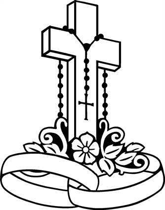 Cross With Flowers - ClipArt Best