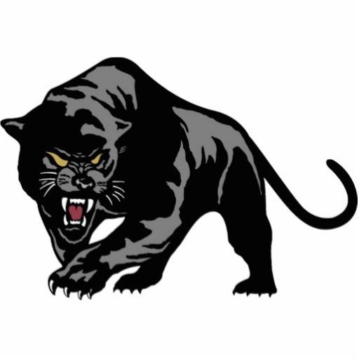 Black panther stalking