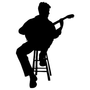Guitar Player Clipart Image Silhouette Of A Man Sitting On ...