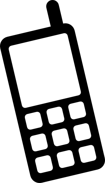 Cell Phone Symbol Vector Clipart