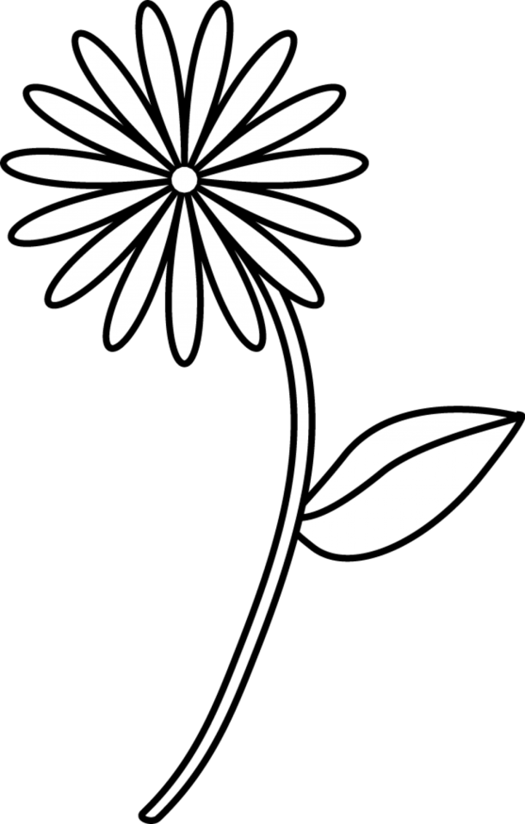 Simple Line Drawing Clip Art : Simple flower drawings for kids clipart ee to use clip art