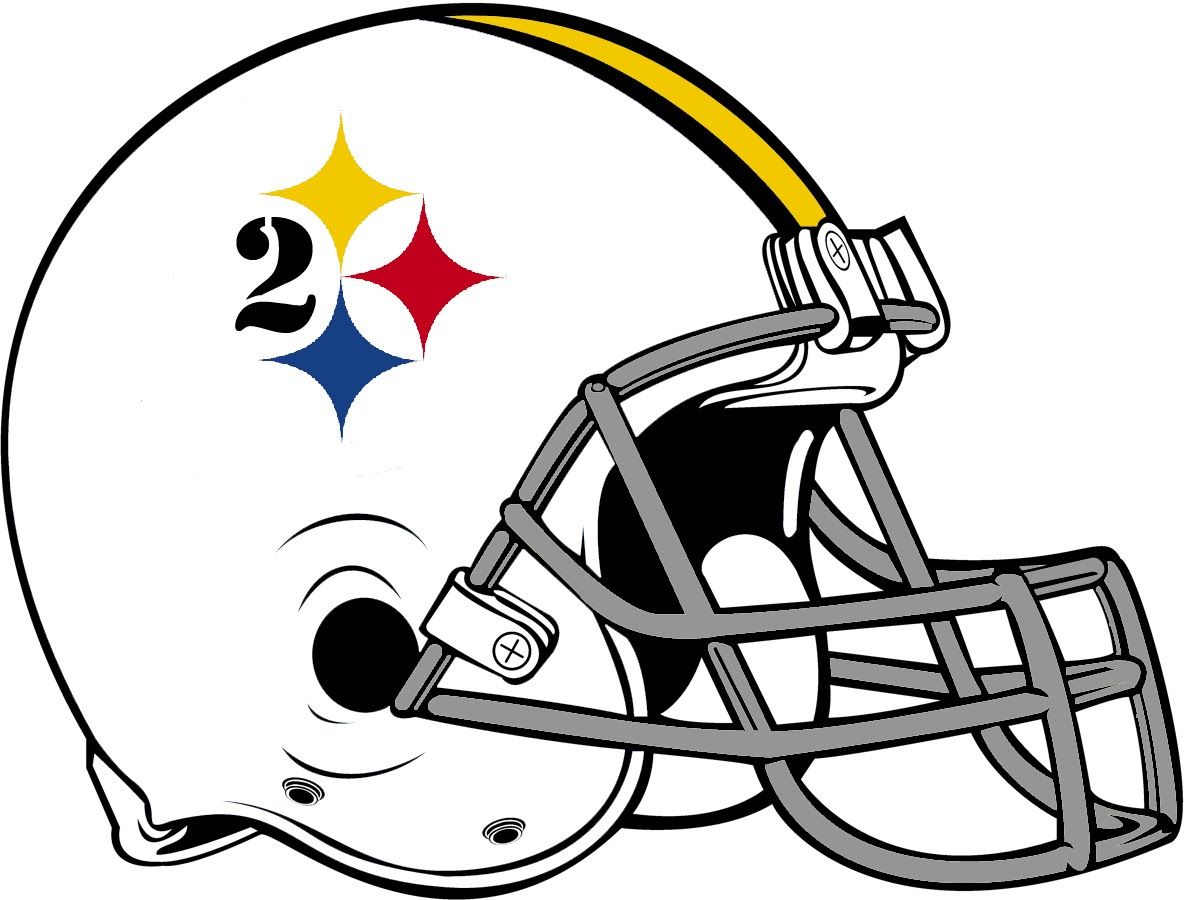 Football logo coloring pages clipart best for Steelers football helmet coloring page