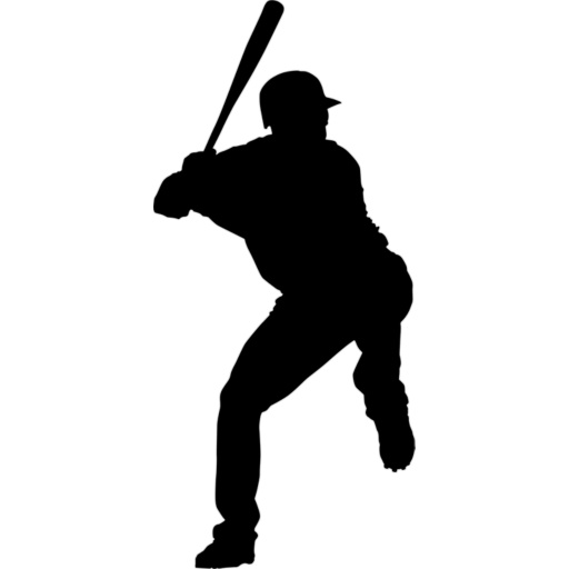 free clipart baseball player silhouette - photo #7