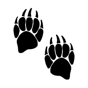 bear paw prints pictures clipart best Bear Claw Medallion Brother Bear Claw Silhouette Clip Art
