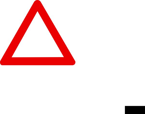 Road Closed Ahead Sign as well Stop Sign likewise Road Sign Bridge as ... Blank Danger Sign