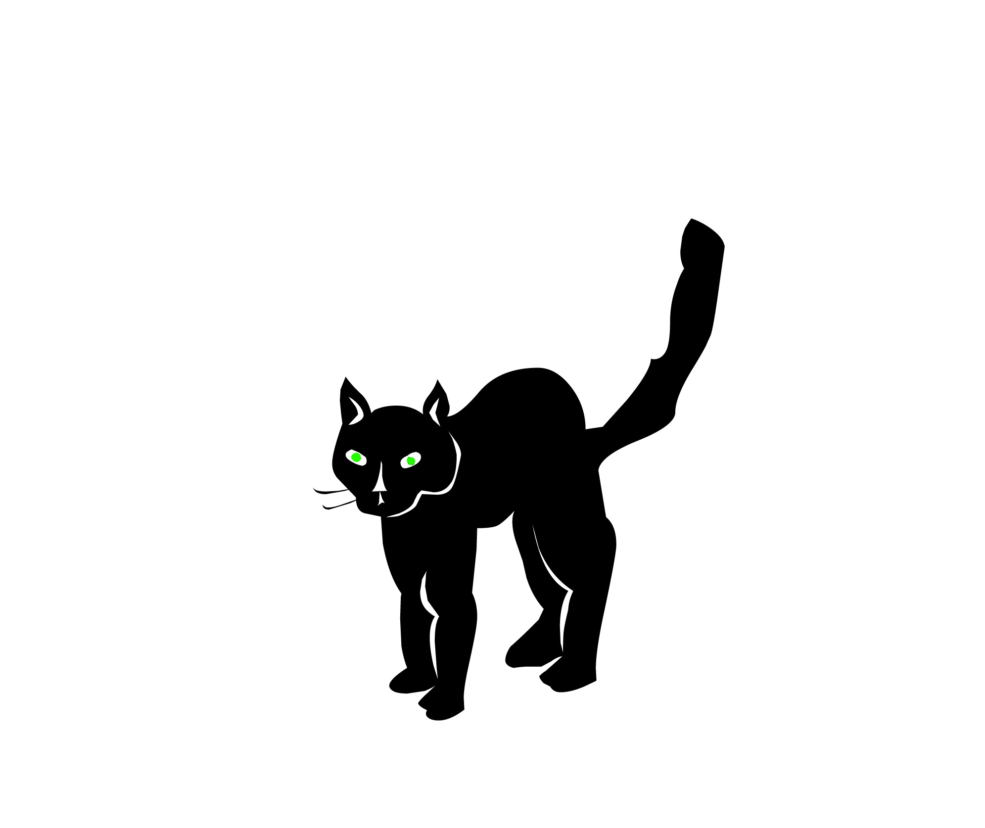 scary cat clipart free - photo #16