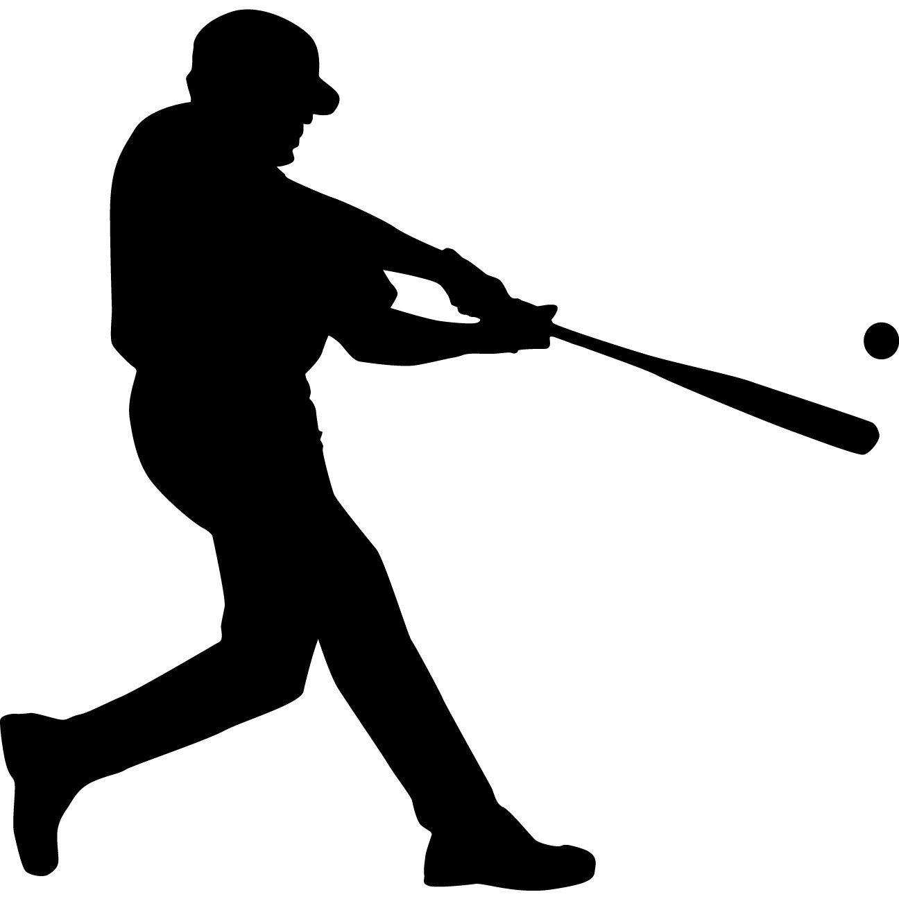 free clipart baseball player silhouette - photo #2