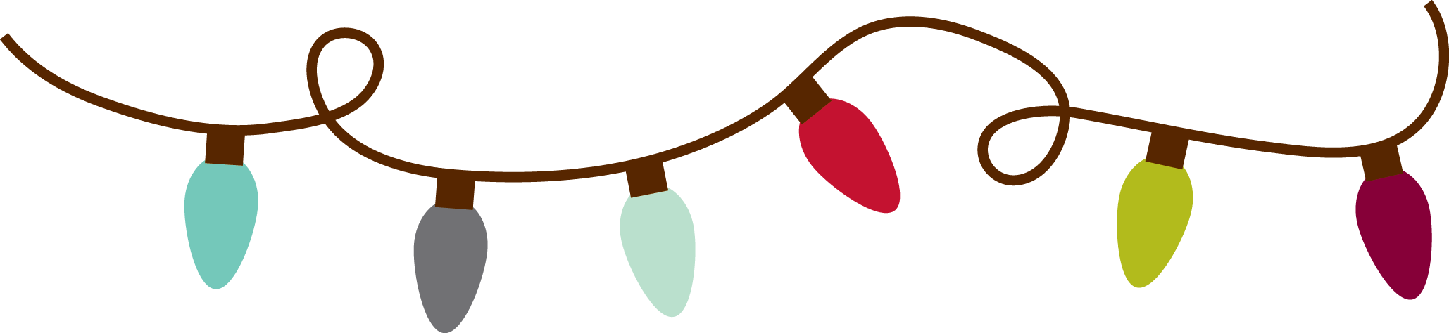 Christmas Lights Border - Transparent Png