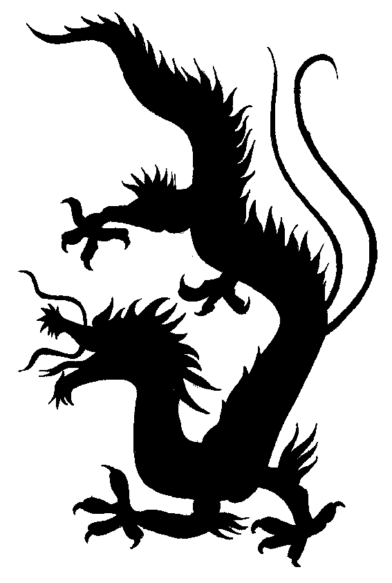 Chinese Dragon Silhouette - ClipArt Best