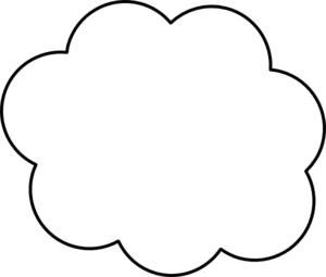 Cloud clipart black and white outline