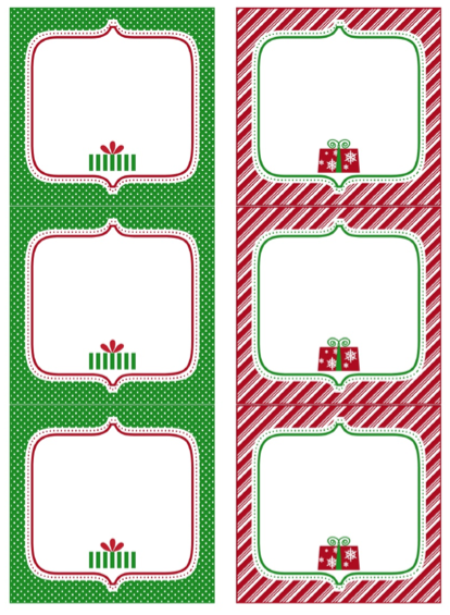 Zany image within free printable blank gift tags