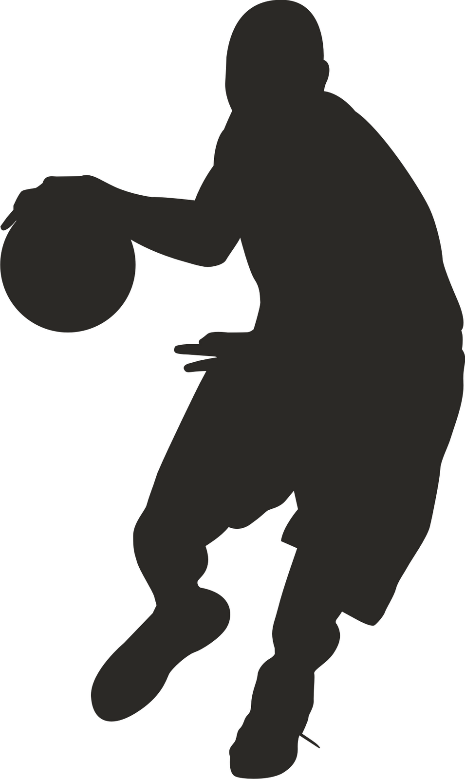 Clip Art Basket Black And White : Cartoon pictures of basketball players clipart best