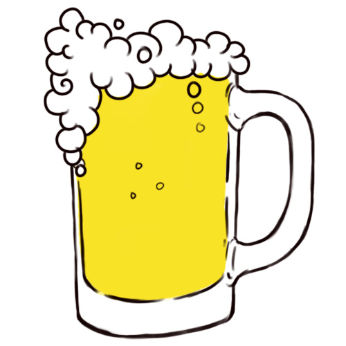 One Line Art Beer : Beer drawing clipart best