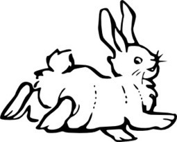 Free Clip Art Cartoon Rabbit Black And White - ClipArt Best