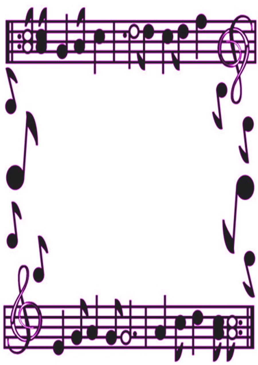 Musical Notes Page Bor...
