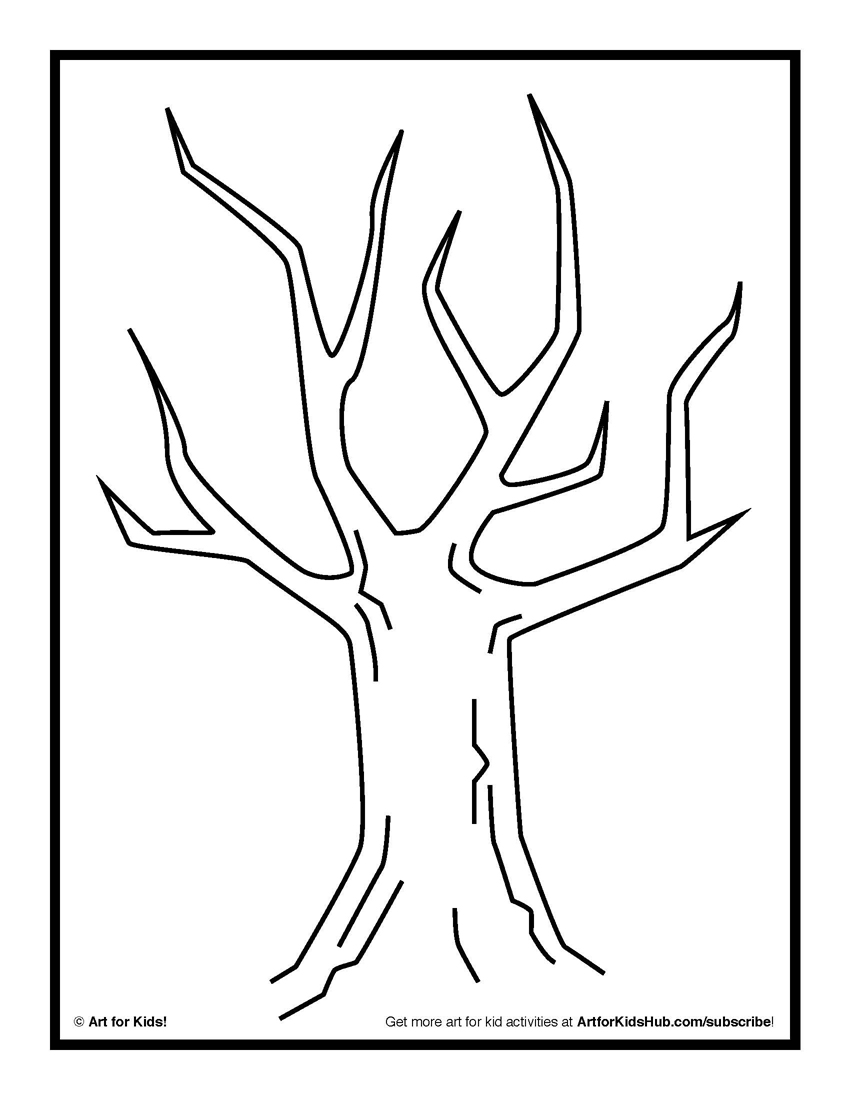 Tree Without Leaves Painting - ClipArt Best