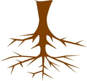 Black And White Tree With Roots Clipart - Free ...