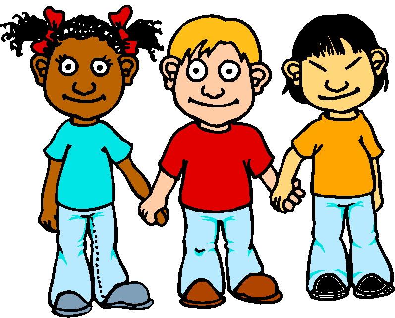 Children Clipart Friends - ClipArt - 141.4KB