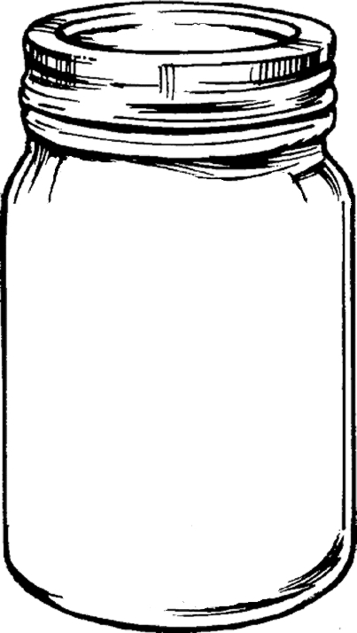Line Drawing Jar : Printable mason jar outline clipart best