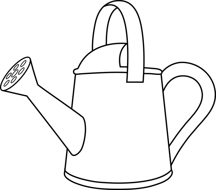 watering flowers coloring pages - photo#26