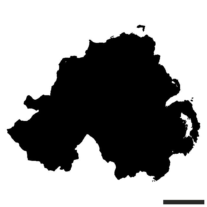 Map Of Ireland Vector Drawing