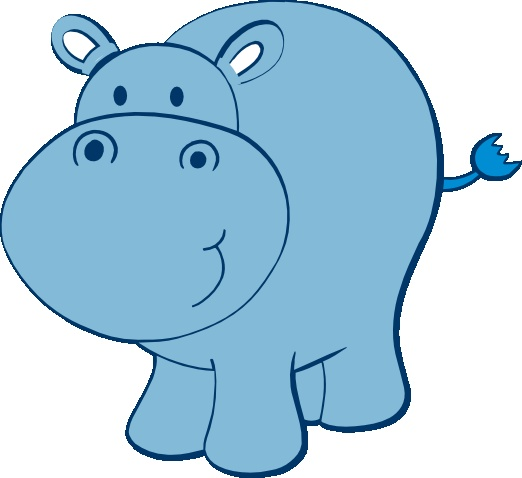 baby hippo clipart - photo #1