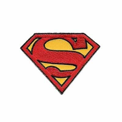 Small Superman Logo Iron on Patch Applique