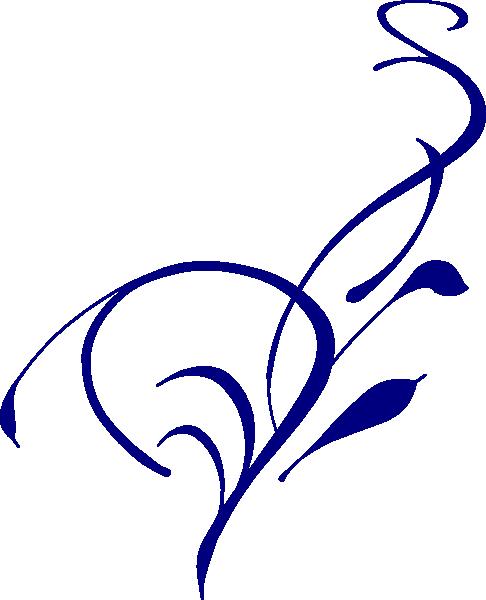 Blue Flower Border - ClipArt Best