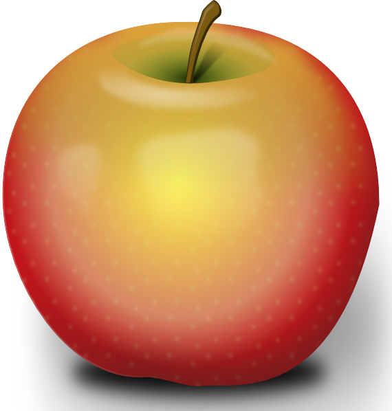 Photorealistic Red Apple clip art - vector clip art online ...