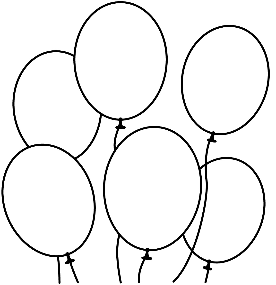 Free Coloring Pages Of 2 Balloons Balloons Coloring Pages