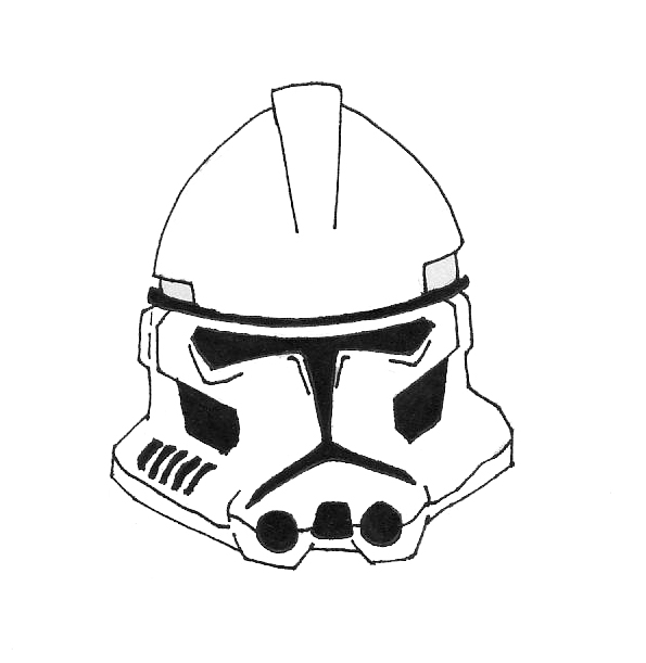 Star Wars Line Drawing How to Draw Star Wars Clones
