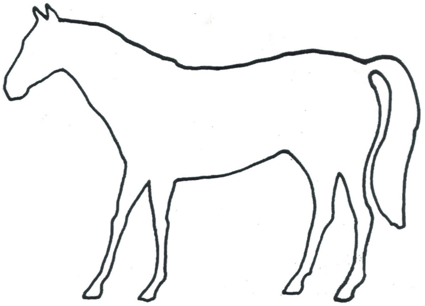 Pt 33 13j Horse Outline Size 4 1 2 Wide X 3 1 4 Tall Price ...