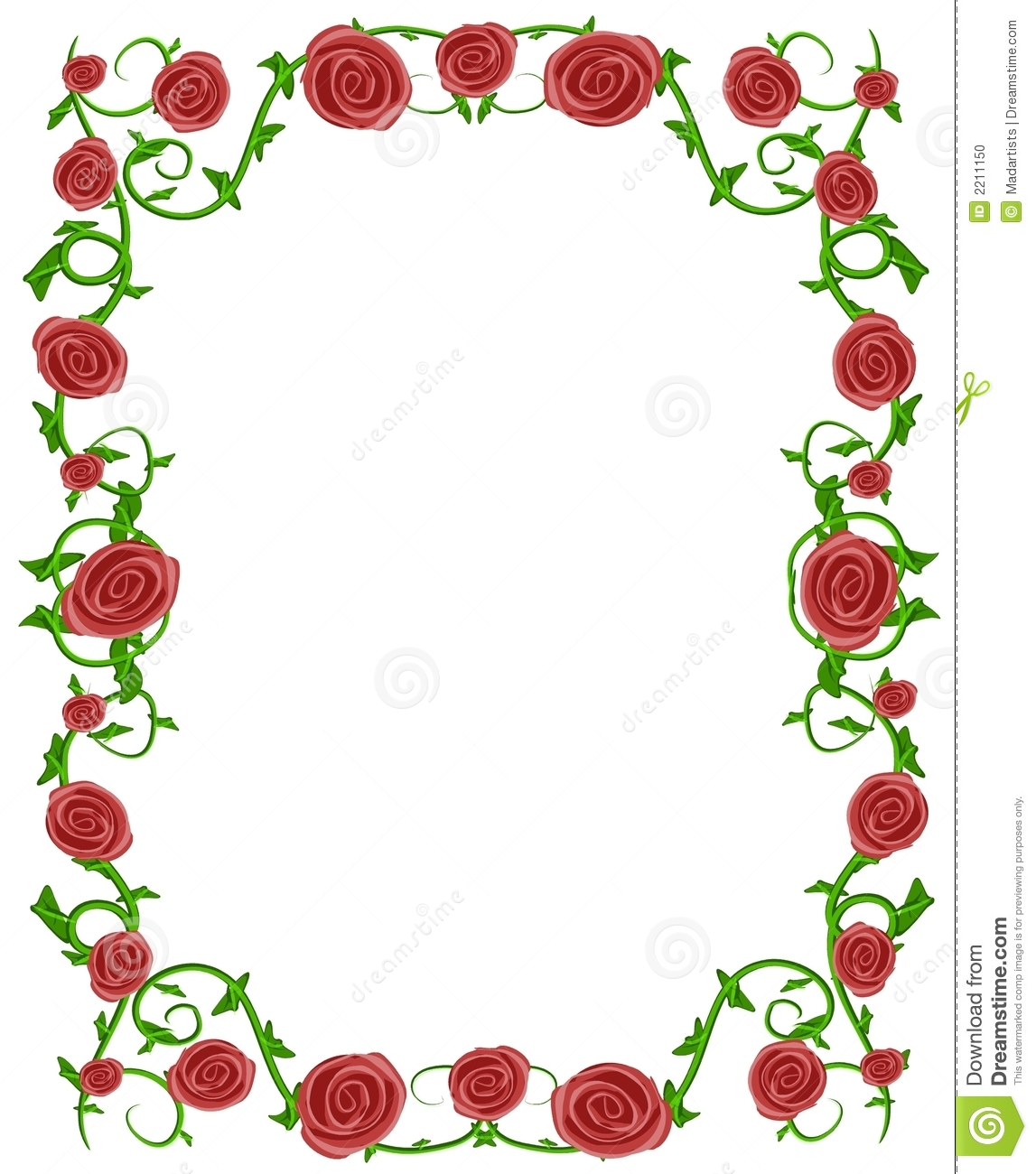 Rose Page Borders