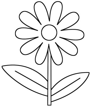 outline pictures flowers coloring pages for kids | Daisy Flower Outline - ClipArt Best