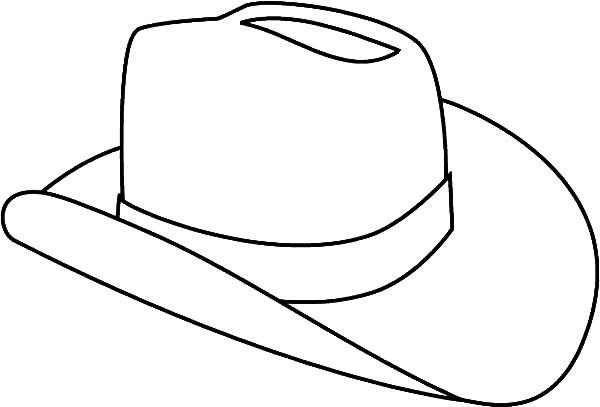 Cowboy Hat Outline - ClipArt Best