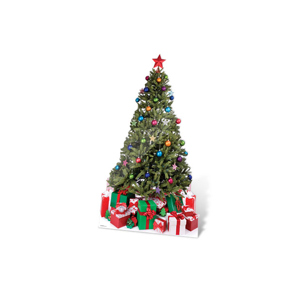Christmas tree with presents cardboard cut out clipart best