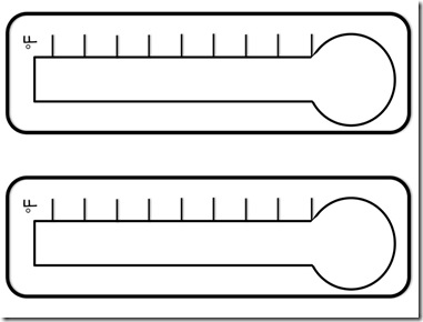 Printable Fundraising Thermometer Template - ClipArt Best