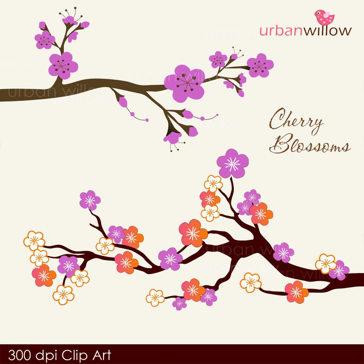 Japanese Cherry Blossom Clip Art - ClipArt Best
