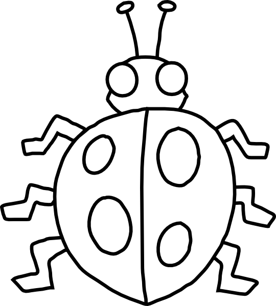 Insect clip art black and white