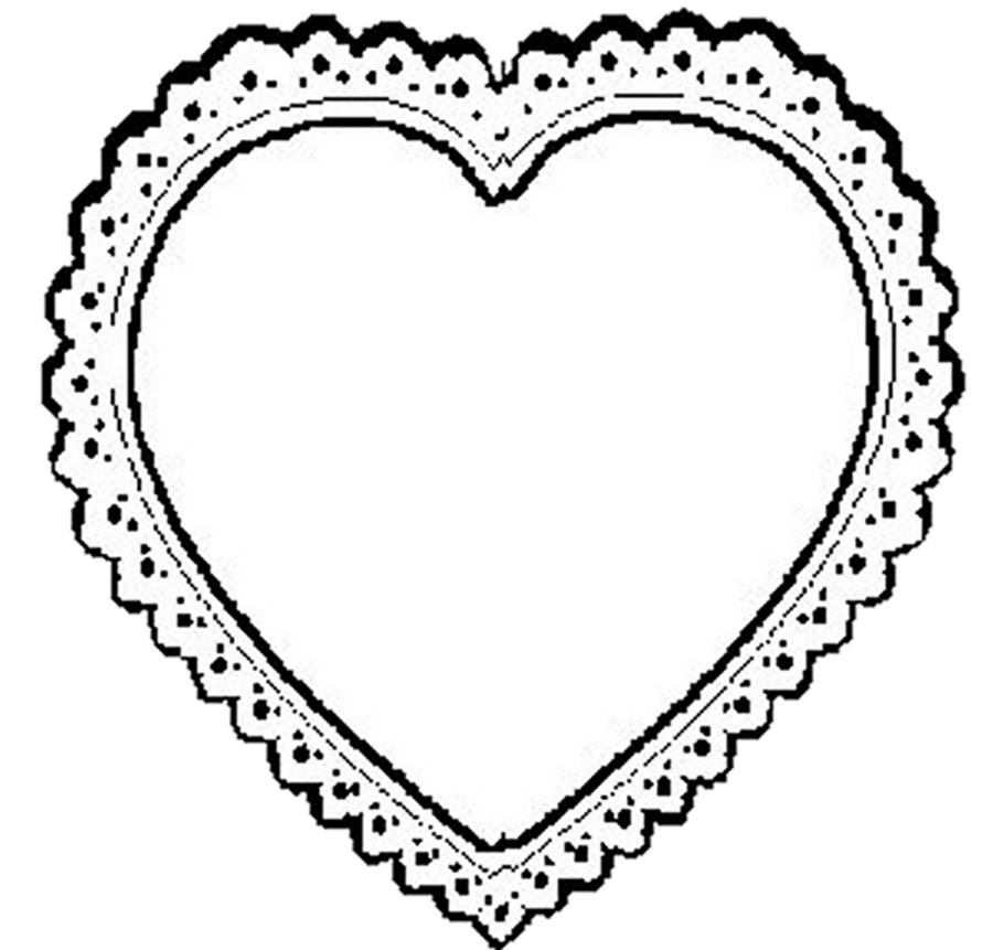 BW Lace Heart Png By Beinspyred