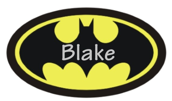 Personalized Superhero BATMAN Logo TShirt by CutiesTieDyeBoutique