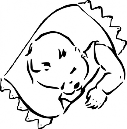 Sleeping Baby clip art - Download free Other vectors