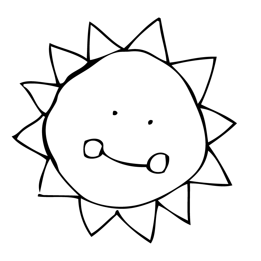 Sun Line Drawing Kcons · Draw Sun