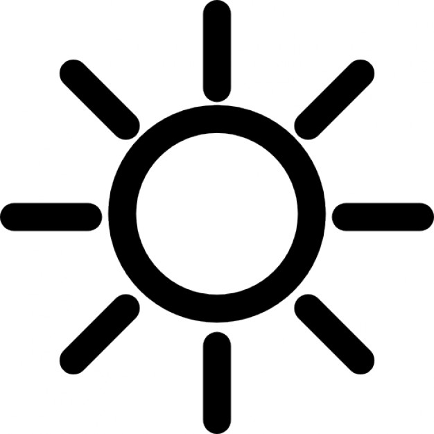 Best Sun Outline #1546 - Clipartion.com