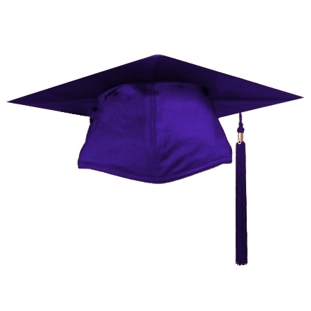 Purple Graduation Cap - ClipArt Best