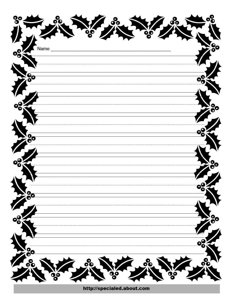 Flower Border Lined Paper Flowers Ideas – Lined Border Paper
