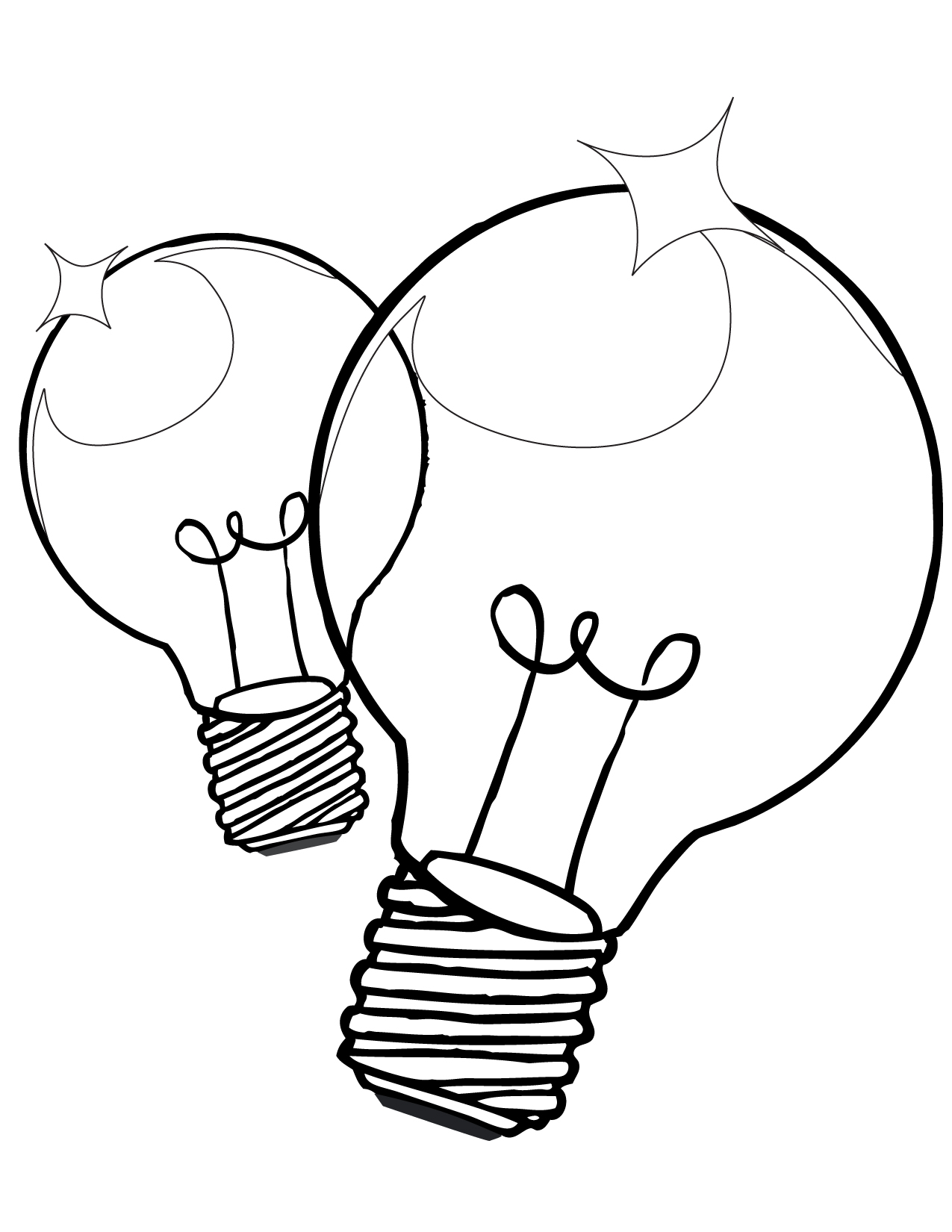 Lightbulb Coloring Page - Handipoints