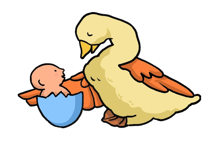 Mother Goose Cartoon Graphic For Share On Myspace