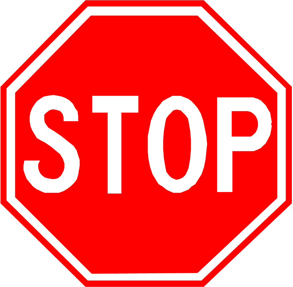 Sassy image inside printable picture of a stop sign
